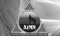 Coyote is a survivor, as we all hope to be; Arizona Myeloma Network logo